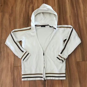 Como Sport Off White And Brown Womens Size S